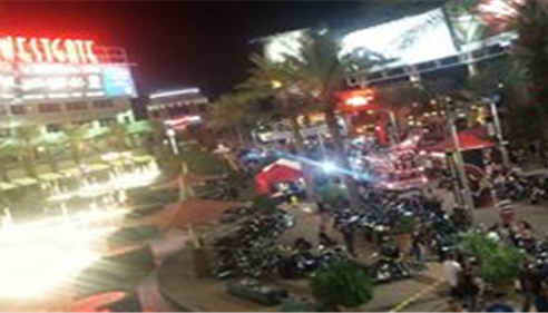 Some of our clients at bike night, Wesgate Entertainment district Glendale AZ