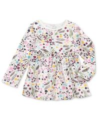 Image of First Impressions Floral-Print Cotton Babydoll Tunic, Baby Girls (0-24 months), Created for Macy's