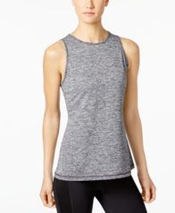 Image of Ideology Heathered Keyhole-Back Tank Top, Created for Macy's