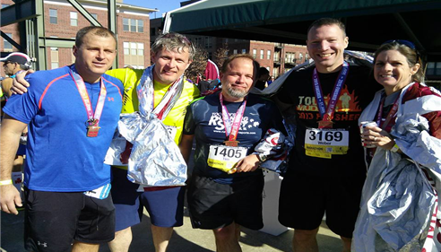 Dec 2015 St. Jude Marathon in Memphis, TN -Beat my last year's time by 13 mins
