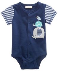 Image of First Impressions Animal Buddies Graphic-Print Cotton Bodysuit, Baby Boys, Created for Macy's