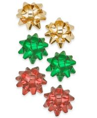 Image of Holiday Lane Gold-Tone 3-Pc. Set Gift Bow Stud Earrings, Created for Macy's