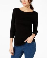 Image of Charter Club Boat-Neck Button-Shoulder Top In Regular & Petite Sizes, Created for Macy's