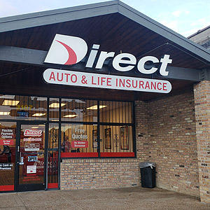 Front of Direct Auto store at 3107 South Mendenhall Road, Memphis