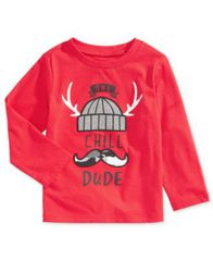 Image of First Impressions Baby Boys One Chill Dude Cotton T-Shirt, Created for Macy's