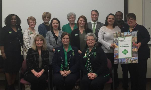 Board of the Girl Scouts Texas Oklahoma Plains posing
