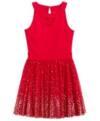 Image of Epic Threads Sequin Popover Dress, Big Girls (7-16), Created for Macy's