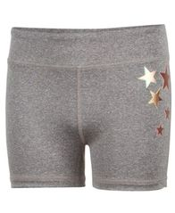 Image of Ideology Gold Star Compression Shorts, Big Girls, Created for Macy's