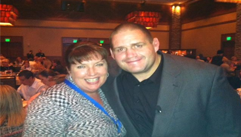 With Rulon Jones at the Colorado Agents' Conference in 2011