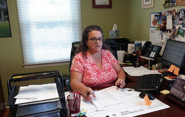 tracey pierson in her office