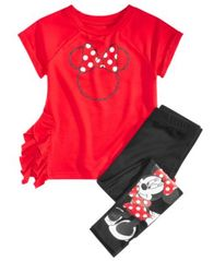 Image of Disney Little Girls 2-Pc. Minnie Mouse Top & Leggings Set