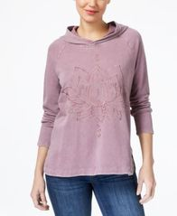 Image of Style & Co Embroidered Hoodie, Created for Macy's