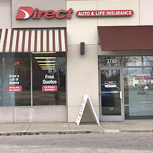 Front of Direct Auto store at 3783 S High St, Columbus