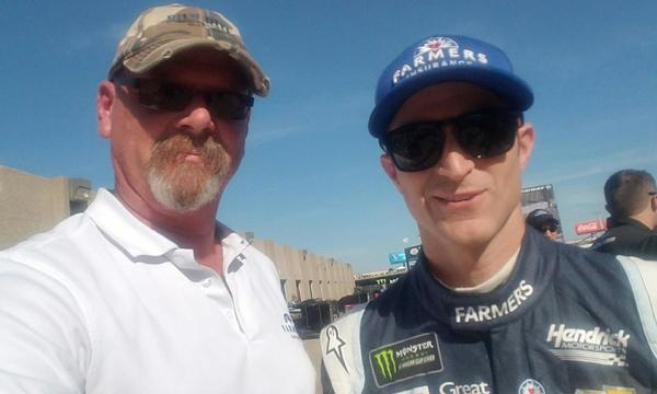 Craig and Farmers Insurance NASCAR driver Kasey Kahne (Circuit of The Americas, 2017).