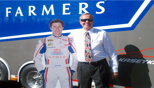 "Rich and ""Kasey Kahne"" cut-out at Dos Gringos"