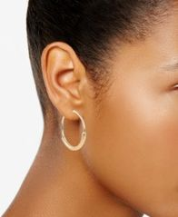 Image of Charter Club Wire-Wrapped Hoop Earrings, Created for Macy's