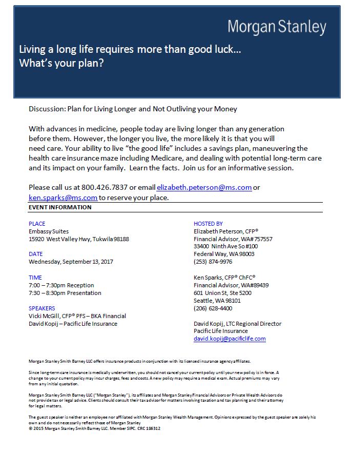 Ken Sparks | Seattle, WA | Morgan Stanley Wealth Management