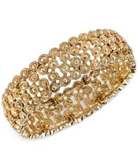 Image of 2028 Gold-Tone Decorative Stretch Bracelet, a Macy's Exclusive Style