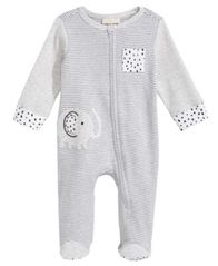 Image of First Impressions Elephant Footed Coverall, Baby Boys, Created for Macy's