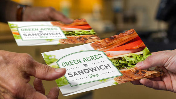 green acres sandwich store postcards