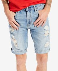 Image of Levi's® Men's 511 Slim-Fit Cutoff Ripped Jean Shorts