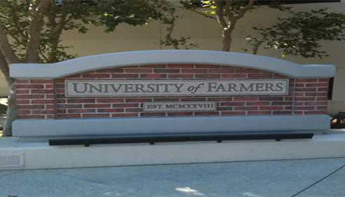 At the University of Farmers® (August 2012)