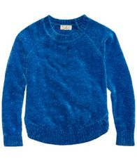 Image of Pink Republic Chenille Scoop-Hem Sweater, Big Girls (7-16)