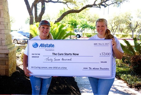 Amy Maddox - Allstate Foundation Helping Hands Grant for The Cure Starts Now