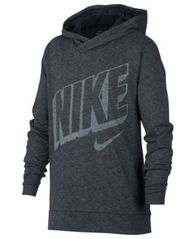Image of Nike Big Boys Breathe Graphic-Print Hooded Training Top
