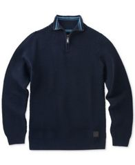 Image of Calvin Klein Ottoman Quarter-Zip Cotton Sweater, Big Boys