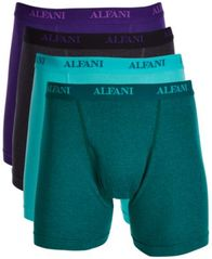 Image of Alfani Men's 4-Pk. Cotton Boxer Briefs, Created for Macy's
