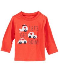 Image of First Impressions Baby Boys Cars-Print Cotton T-Shirt, Created for Macy's