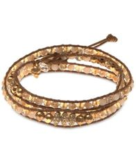Image of lonna & lilly Gold-Tone Crystal Wrap Bracelet
