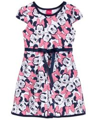 Image of Disney's® Minnie Mouse Fit & Flare Dress, Little Girls