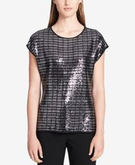 Image of Calvin Klein Sequined Top