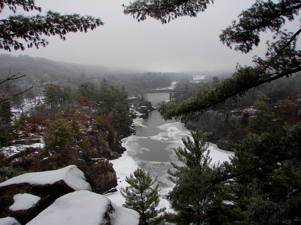 St Croix Falls in the winter