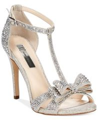 Image of INC International Concepts Women's Reesie Rhinestone Bow Evening Sandals, Created for Macy's