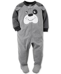 Image of Carter's 1-Pc. Dog Footed Pajamas, Baby Boys (0-24 months)