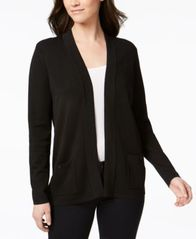 Image of Anne Klein Open-Front Cardigan
