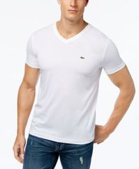 Image of Lacoste Men's V-Neck Pima Cotton T-Shirt