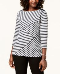 Image of Karen Scott Striped Top, Created for Macy's