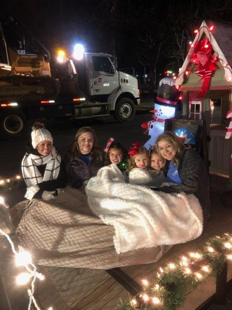 Agent's family at christmas parade