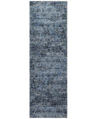 "Image of Fusion Light Blue/Grey 2'5"" x 7'7"" Runner Rug"