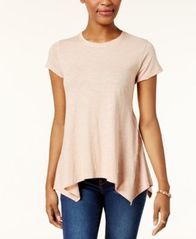 Image of Style & Co Handkerchief-Hem T-Shirt, Created for Macy's
