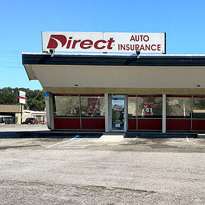 Front of Direct Auto store at 4499 North Palafox Street, Pensacola