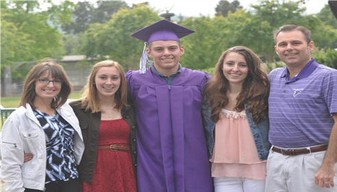 Sean graduating from College Park High School in Pleasant Hill, CA.