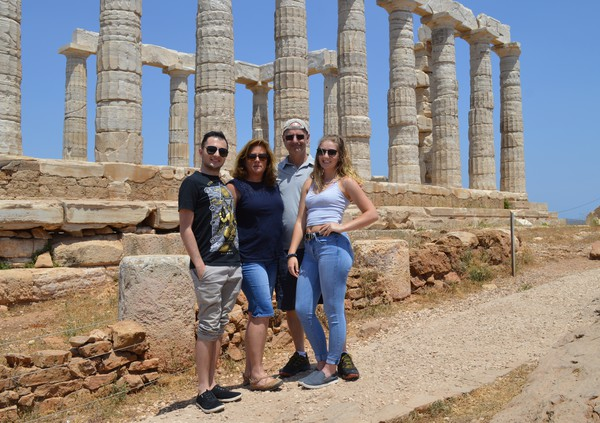 Hanging out at Poseidon's Temple