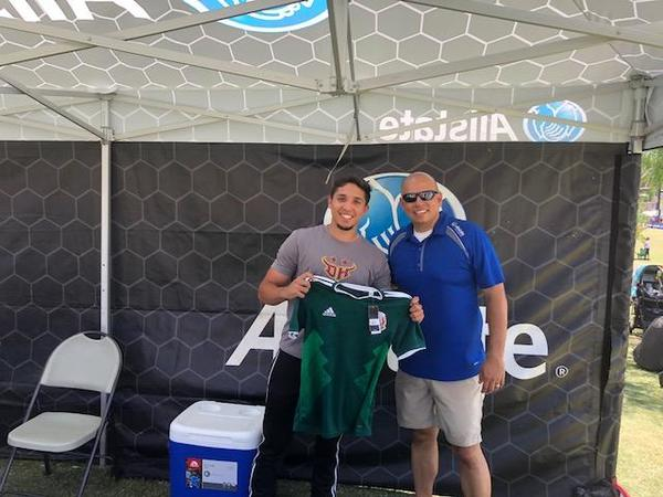 Oscar Arnold - Representing Allstate at the Alianza de Futbol Tournament