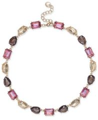 Image of Charter Club Gold-Tone Multi-Stone All-Around Collar Necklace, Created for Macy's