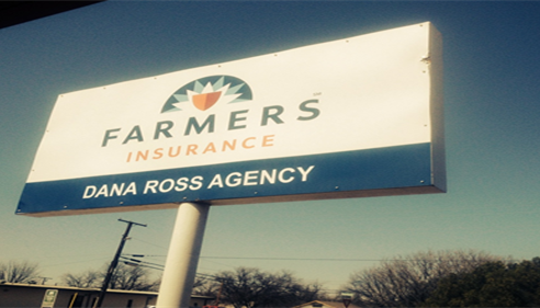 My new Farmers® sign!! So proud of it!